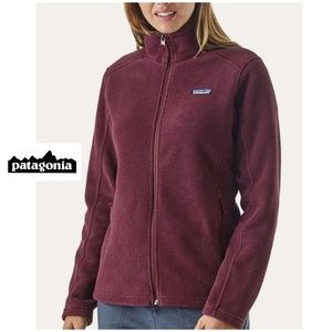PATAGONIA BURGUNDY SOFT SYNCHILLA FLEECE JACKET L